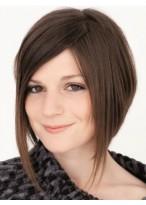 Women's Short Capless Straight Human Hair Wig