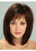 Women's Short Straight Full Lace Synthetic Wig