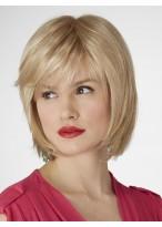 Razor Cut Side Layers Human Hair Bob Style For Women
