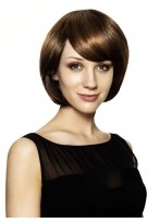 Clasical Smoothly Synthetic Bob Style Wigs For Women