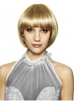 Pretty and Flattering Look Synthetic Wigs Bob Style