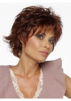 Capless Fashion Layered Shag Style Short Wig