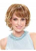 Full Lace Wavy Short Shag Bob Wig