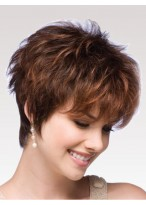 Volumized Multi-Layered Textures Short Wig