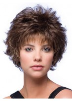 Curly Mixed Layered Short Capless Wig