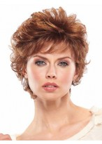 Loosely Layered Rich Curls Short Wig