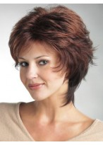 Short Straight All-Over Layered Cut Lace Front Wig
