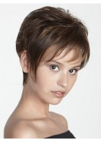 Short Classic Cut Capless Synthetic Wig