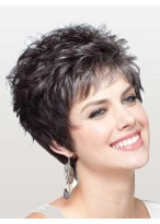 100% Human Hair Lace Front Modern Short Wavy Style Wig