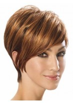 Angled Cut Synthetic Capless Short Wig