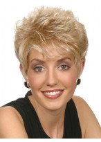 Classic Short Straight Pixie Synthetic Wig
