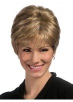 Modern Capless Synthetic Short Wig
