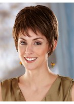 Natural Straight Short Synthetic Lace Front Wig