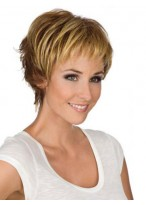 Mono Lace Short Layers Synthetic Wig