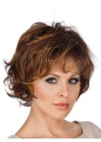 Feminine Textured Layered Synthetic Wig