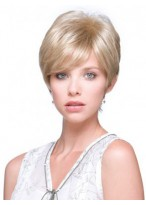 Synthetic Cropped Wig with Layered Hairstyles