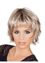 Short Synthetic Layering Fringe Wig
