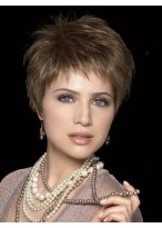 Ultra-light Short Wispy Synthetic Wig with Layering Style