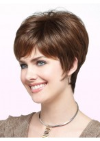 Popular Brunette Pixie Cut Cropped Wig