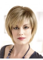 Modern Bob Style Natural Straight Short Lace Wig
