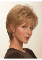 Lightweight Synthetic Short Wig with Wispy Bangs