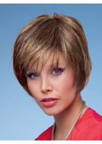 Feminine Cropped Layer Straight Synthetic Wig