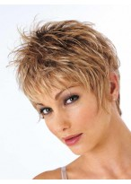 Cropped Style Textured Layers Synthetic Wig
