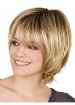 Modern Stylish Cuts Light Blonde Short Wig