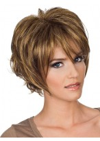 Blonde Cropped Hairstyles Layered Short Wig