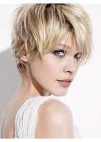 Charming 100% Human Hair Short Straight Top Quality Wig