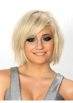 Charming Straight Short Human Hair Full Lace Wig