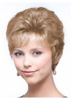 Apricot Frost Short Layered Synthetic Wig