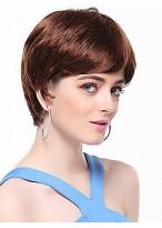 Short Straight Auburn Synthetic Wig