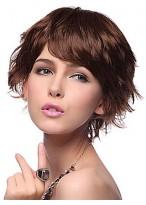 Short Wavy Auburn Synthetic Wig