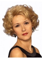 Chic Lace Front Short Wavy Synthetic Wig