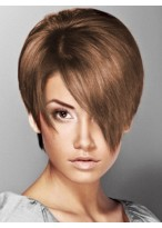Capless Short Straight Synthetic Wig