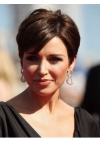 Short Synthetic Capless Side Parting Wig For Women