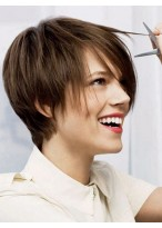 8 Inch Capless Short Straight Synthetic Wigs