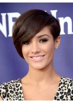 8 Inch Capless Straight Brown Synthetic Hair Wigs