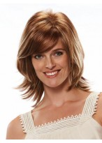 Synthetic Layered Cut Straight Capless Wig