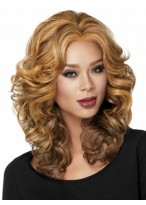 Mid-length Casual Synthetic Wig
