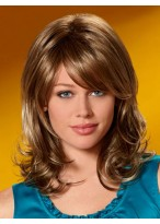Synthetic Casual Wavy Medium Wig