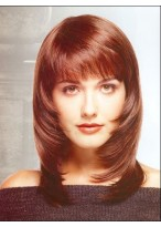 Synthetic Layers Straight Medium Wig