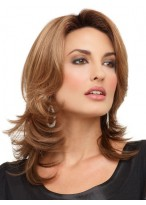 Glamous Shouler-length Layering Synthetic Wig