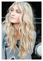 Faddish Long Wavy Blond Lace Wigs for Women
