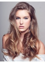 20 Inches Female Long Wavy Full Lace Hair Wig