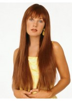 Extra Long Synthetic Sleek Straight Wig