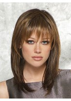 Shoulder-Length Straight Synthetic Wig