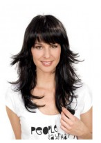 Simple Long Straight Synthetic Wig