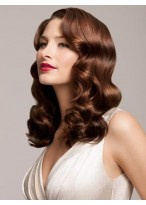Soft Material Wavy Synthetic Medium Full Lace Wigs